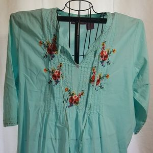 Woman Within Plus Size Embroidered Tunic